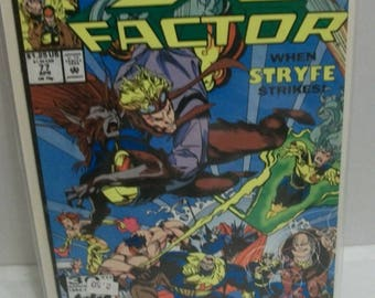 X-Factor #74 (1st Series) Strong Goes Wild  VF-NM  Unread 1992 Vintage Marvel Comic Book