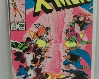 Uncanny X-Men #208 Vol 1 Retribution Nimrod Appearance Good-VG  Lots Of Cover Creases Chris Claremont/John Romita Jr 1986 Marvel Comic Book