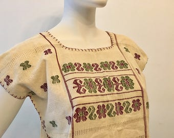 AMUZGO TOP, MEXiCAN BLOUSE, made in Oaxaca, Telar from Oaxaca, Mexican Top