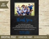 Coach Gift, Coach Thank You Gift, Soccer Coach Gift, Football Coach Gift, Team Gift, Appreciation, Personalized, Any Sport, DIGITAL FILE