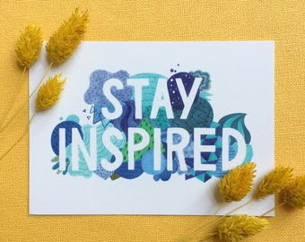 Stay Inspired Postcard