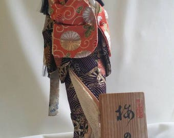 Japanese geisha doll.