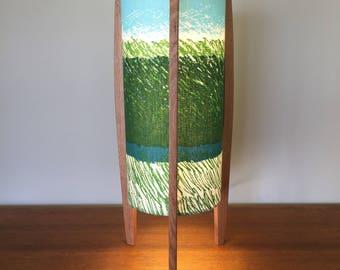 Rocket lamp featuring Japanese designer fabric (A)