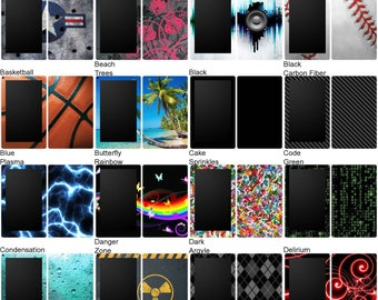 Choose Any 1 Vinyl Decal/Sticker/Skin Design for the Amazon Kindle Fire