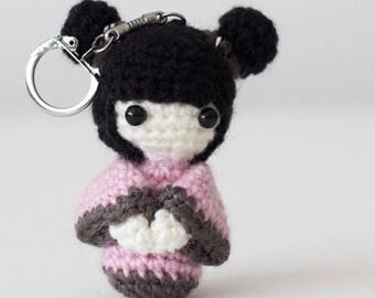 Kokeshi doll in key ring