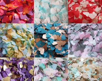 Heart confetti mix in your choice of colours !Wedding throwing confetti!Table Decoration.Romantic summer.ECO, 5 -120 handfuls, 25gr - 300gr
