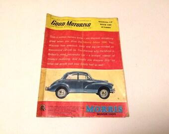 Good Motoring Magazine, Vintage Car Magazine, May 1961, Morris Minor Car, Transport Memorabilia, Old Cars, Motor Advertizing