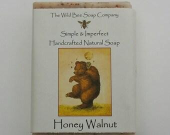 Honey Walnut Soap, Bar Soap, Bath Soap, Soap, Skincare, Body and Bath Soap, Honey Soap, Gentle Soap, Exfoliating Soap, Handcrafted Soap