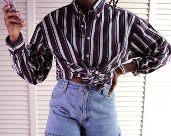 90s Vintage Striped Shirt