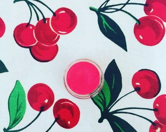 Cherry Red Lip Stain   Cheek Tint   Tinted Lip Balm   Cheek Stain   nourishing lipstick   blush   lip tint