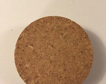Cork Lid for Wide Mouth Mason Jar, 1 Cork Lid