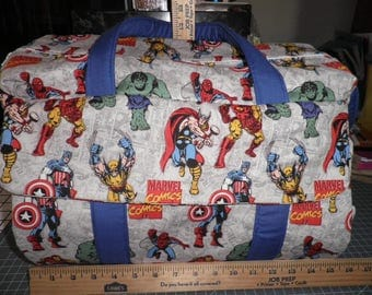Diaper Bag & Changing Pad made with Marvel Comics Fabric