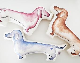 LINEN DOG, dog pillow, stuffed toy, stuffed linen dog, gift for children, home decor, plush toy
