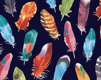 Fat Quarters Black Feathers Bird Watchers by P&B Textiles Collection