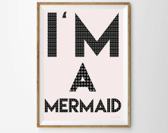 I'm a Mermaid Children's Print