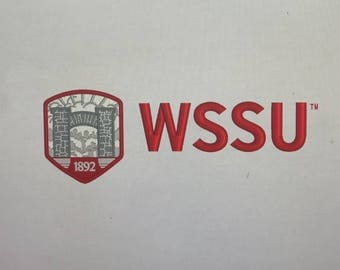 Embroidered Handkerchief Winston-Salem State University (WSSU) approx 14x14 (Your Choice of color and Design)