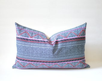 Hmong Hill Tribe Lumbar Pillow Cover