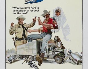 Back to School Sale: Smokey and the Bandit Movie POSTER Burt Reynolds 70's