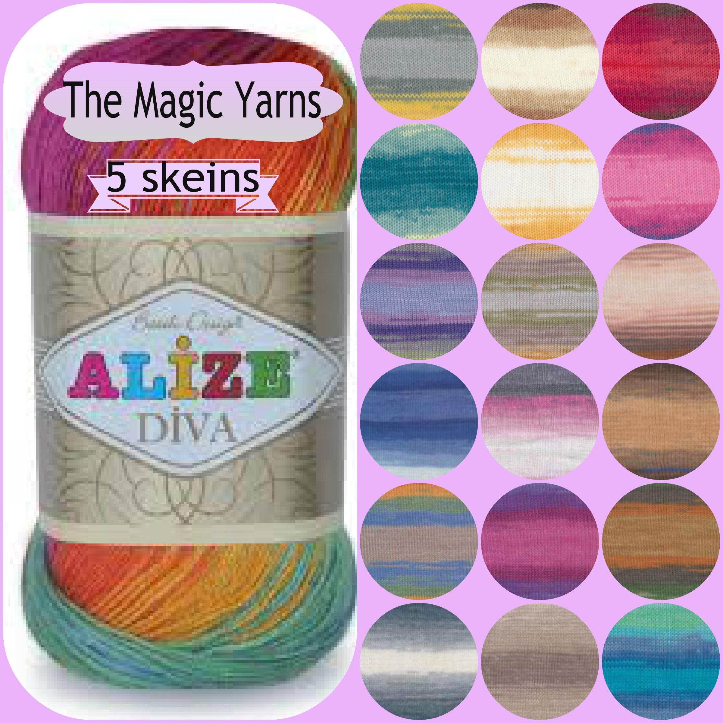 Light Weight Alize Diva Batik Yarn Set Of 5 Skeinssport4