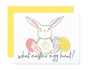What Egg Hunt? - Funny Easter Card