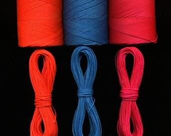 Wire macrame 3 x 10 meters Linhasita, neon orange, intense blue, neon pink