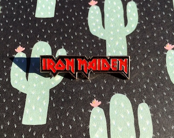 """Retro Vintage 90s """"Iron Maiden""""  Enamel Pin"""