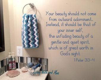 Bathroom Scripture Etsy