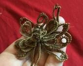 Victorian mourning hair memento mori victorian hair wreath antique folk art