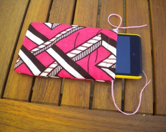 Cell phone cases or a bezel handmade African fabric
