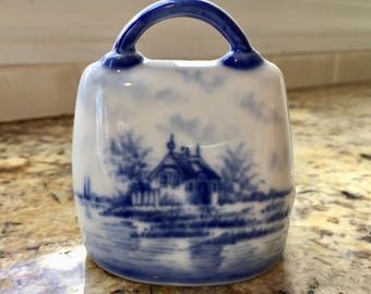 Vintage Blue and White Bell Germany