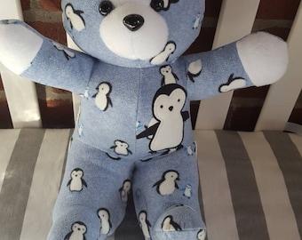 Sale!! Personalized Memory Bear, In Memory of, Keepsake Bear, Custom Bear, Memory Animal, Stuffed Animal, Bereavement Bear,In loving memory