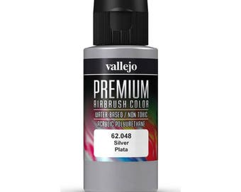 Vallejo Premium Airbrush Metallic Color 60ml Gunmetal/ Steel / Gold / Copper / Metallic black/ Silver / Ink Pigment air color
