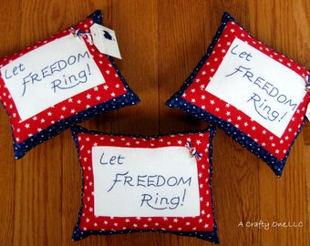 Patriotic Pillow, Accent Pillow With Words, Throw Pillow, Patriotic Decor, July 4 Pillow, USA Pillow, July 4th Decor, Stars & Stripes Pillow