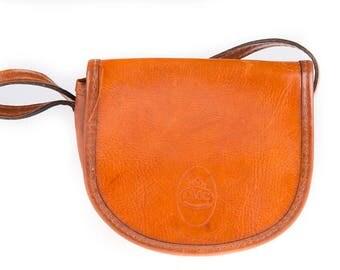 CMC International Vintage Cognac Brown Leather Shoulder Bag