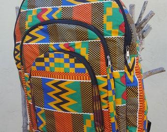 Kente nylon backpack - Extra large