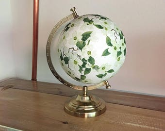 Globe, World Globe, Travel Globe, Custom Globe, Travel Gift, Wanderlust, Adventure, Travel, Decoupage, Decoupage  Globe, Decoupage Map