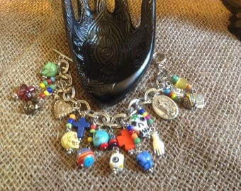 Day of the Dead charm bracelet