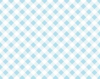 1/2 yd Sew Cherry 2 Gingham Fabric by Lori Holt for Riley Blake C5808 Aqua