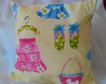 """Lemon girls print cushion 16"""" by 16"""""""
