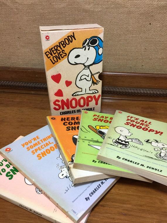Snoopy Box Set | Charlie Brown Books | Vintage Books Box Set | Vintage Children's Books | Collectors Retro Books | 1980s Kitsch Books