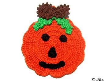 Halloween crochet potholder, Crochet Pumpkin, Halloween Pumpkin, Presina zucca