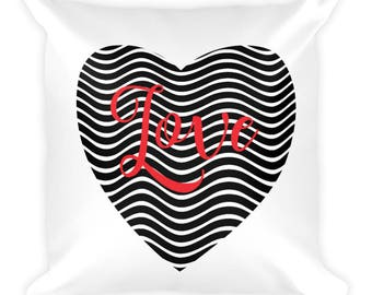 Love in the Heart Square Pillow