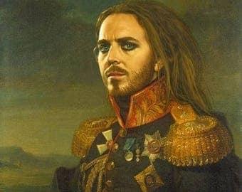 Original General TIM MINCHIN Portrait Art 100% Hand Made Canvas Oil Painting Australian Musician Comedian Poster by Reitna Kapfe