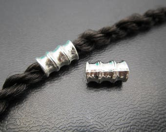 1PC Antique silver Dreadlock beads dread Hair Braid Jewelry Beard Beads Accessories 4.7mm hole
