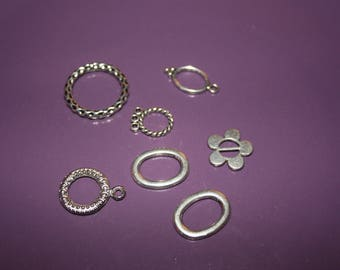 SET OF 7 METAL FOR MAKING CHARMS