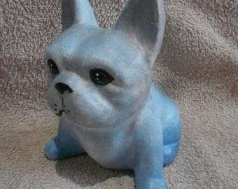 painted french bulldog ornament