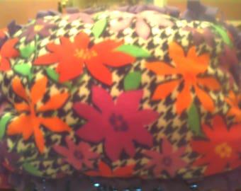 Flower Power fleece pillow