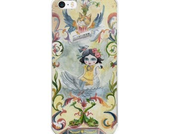 Leda and the swan - iPhone Case