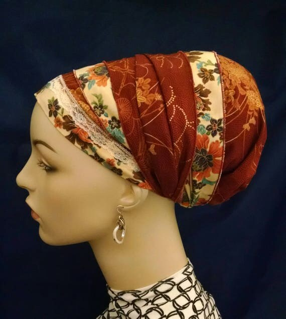 Rich oriental patterns and colors sinar tichel, tichels, apron, tichels, chemo scarves, head scarves, mitpachat, head wraps