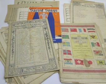 1889 Church Hymn Sheet Music w/ 1937 Sacred Songs & 1906 O'Canada